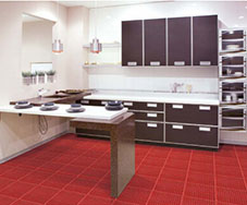 Interlocking floor mats(drainage surface)